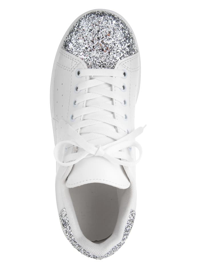 Sneakers à plateau à paillettes