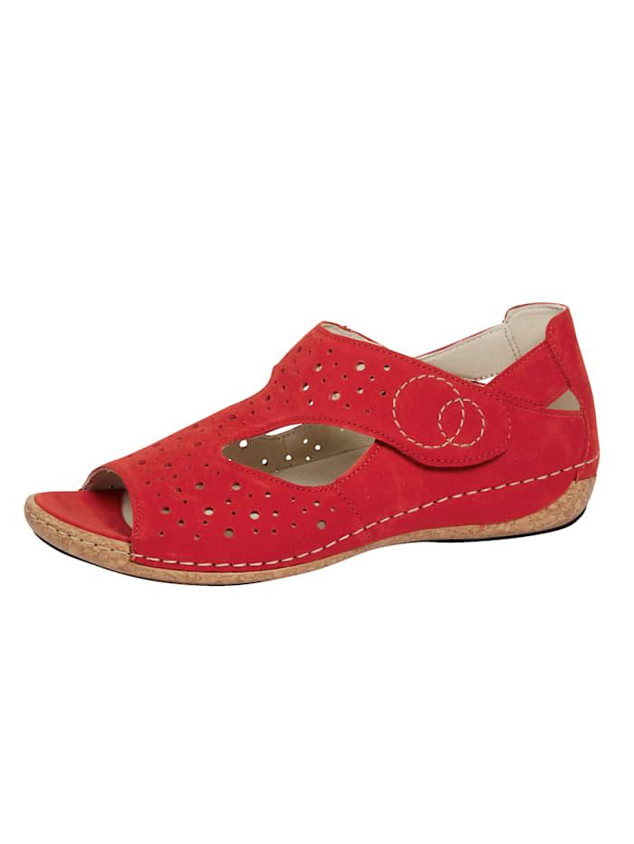 Waldläufer Sandale, Rot