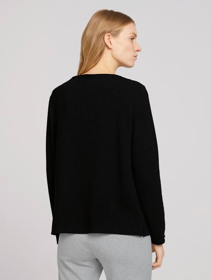 Strukturiertes Sweatshirt mit Glitzer