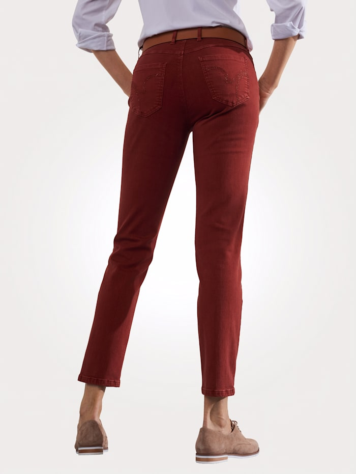 Toni Jeans colored denim, Terracotta