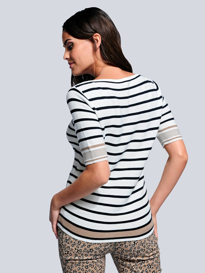 Pullover im trendigen Streifendessin