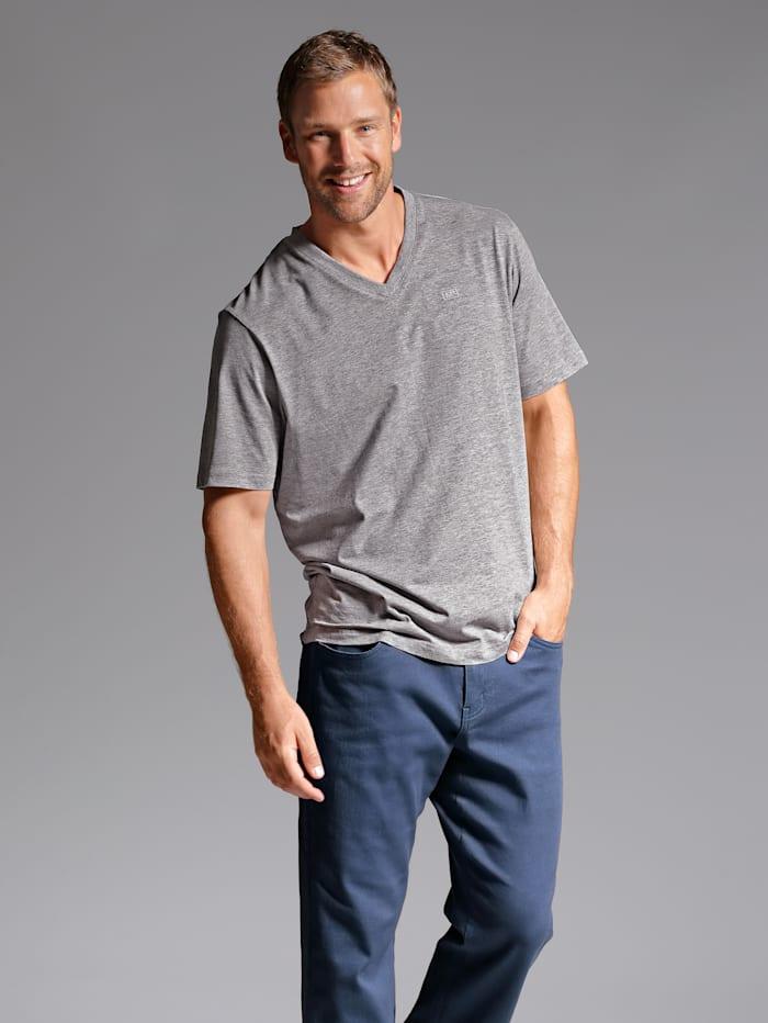 Men Plus V-Shirt ein Must-have, Grau