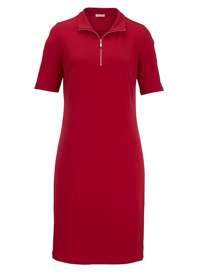 Jersey jurk met rits