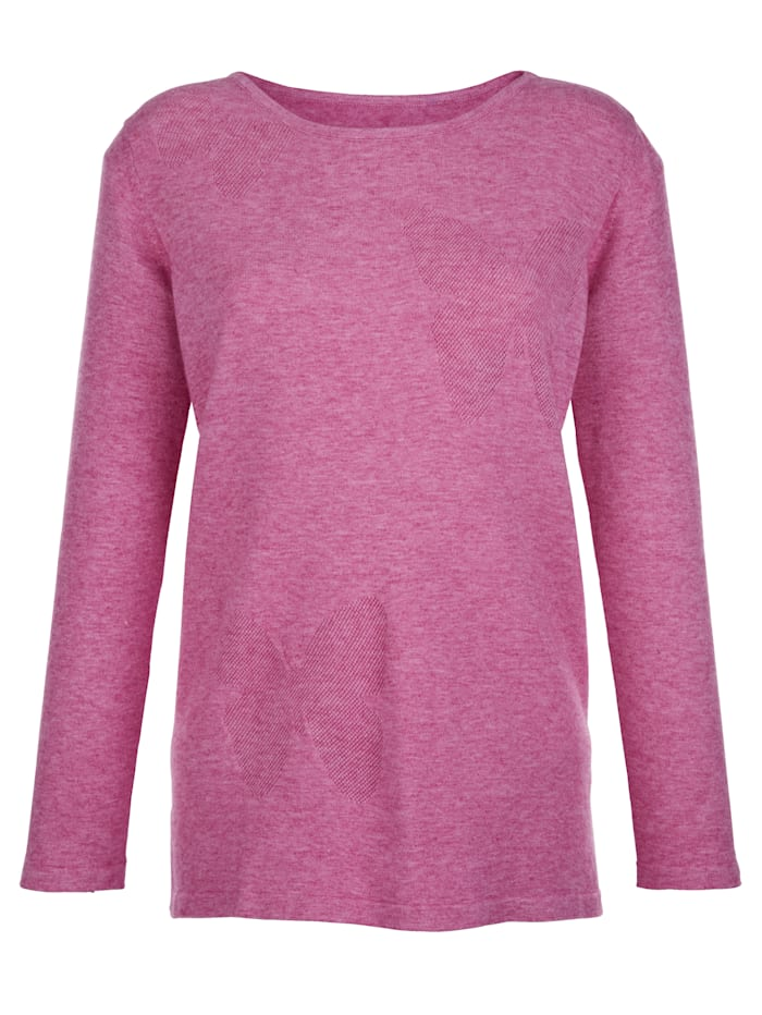 AMY VERMONT Pullover mit Schmetterlings-Muster, Pink