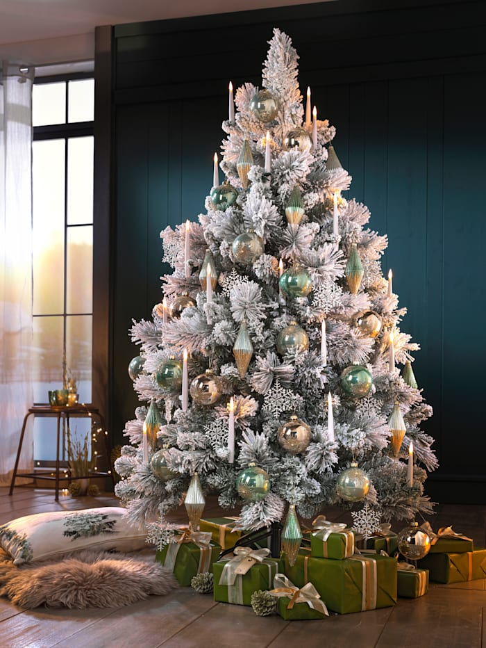 Set van 10 led-kerstboomkaarsen