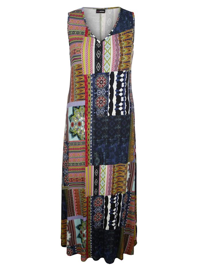 MIAMODA Šaty s moderným mixom vzorov, Multicolor