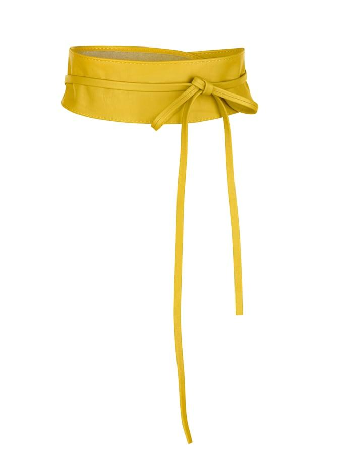 MONA Bindegürtel, gelb