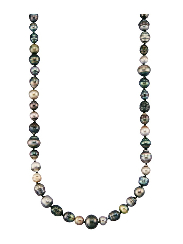 Collier avec perles de culture de Tahiti, Multicolore