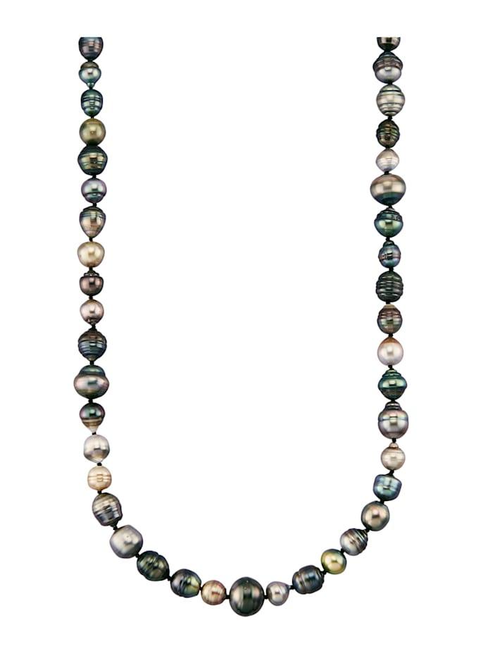 Halsband med odlade Tahitipärlor, Flerfärgad