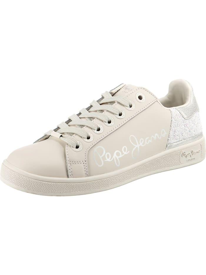 Pepe Jeans Brompton Fun Sneakers Low, weiß
