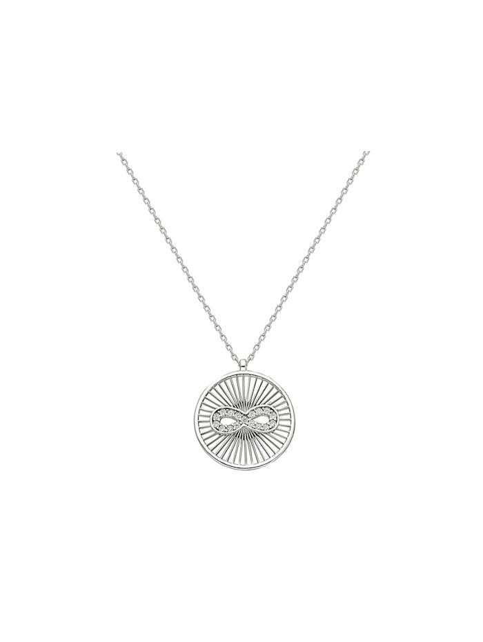 Dkeniz Silberkette Coin Infinity Kette Silber, silber