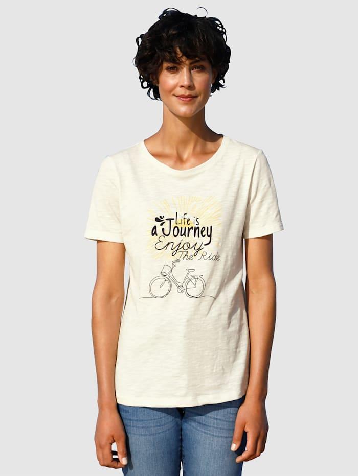 Dress In Shirt mit sommerlichen Druck, Off-white