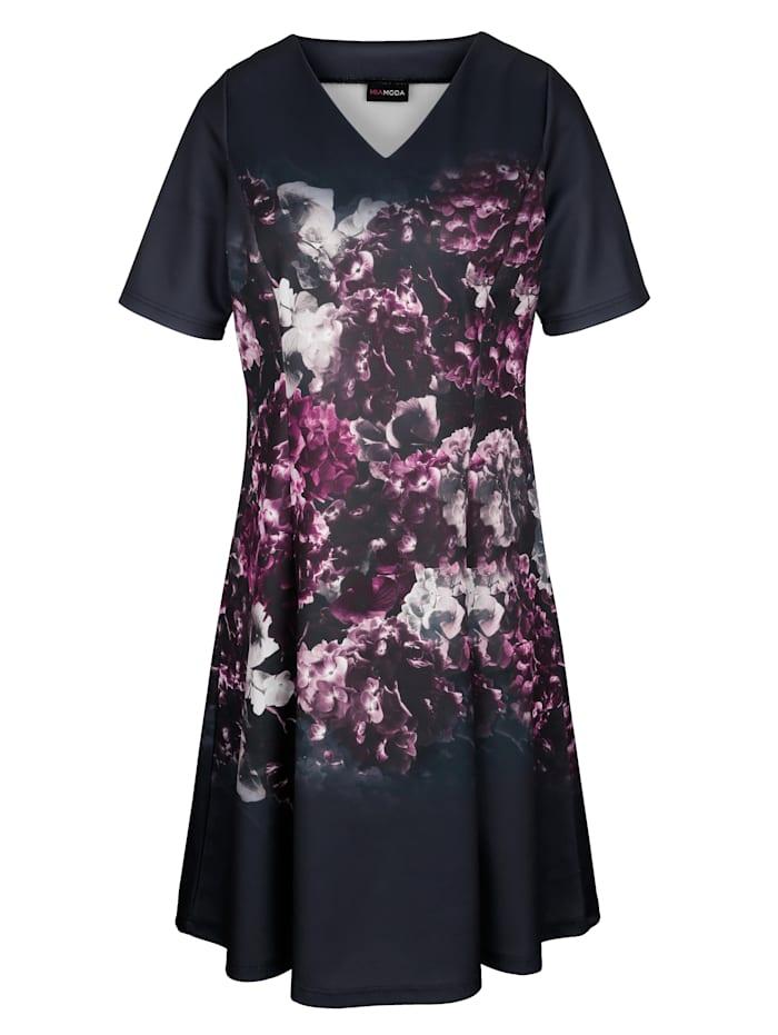 Kleid mit platziertem Blumenprint