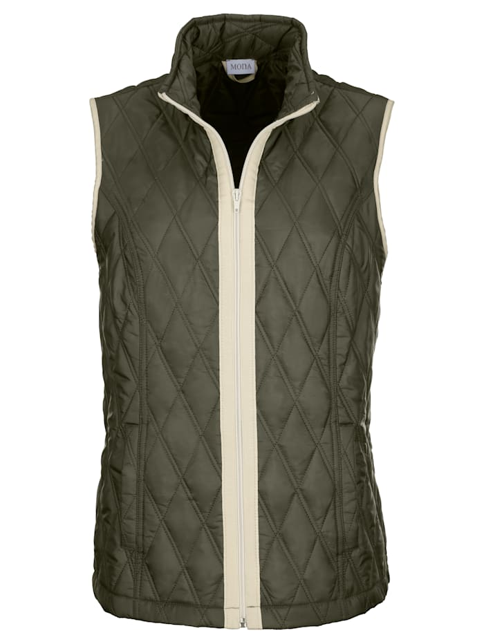 Gilet with a classic quilted pattern