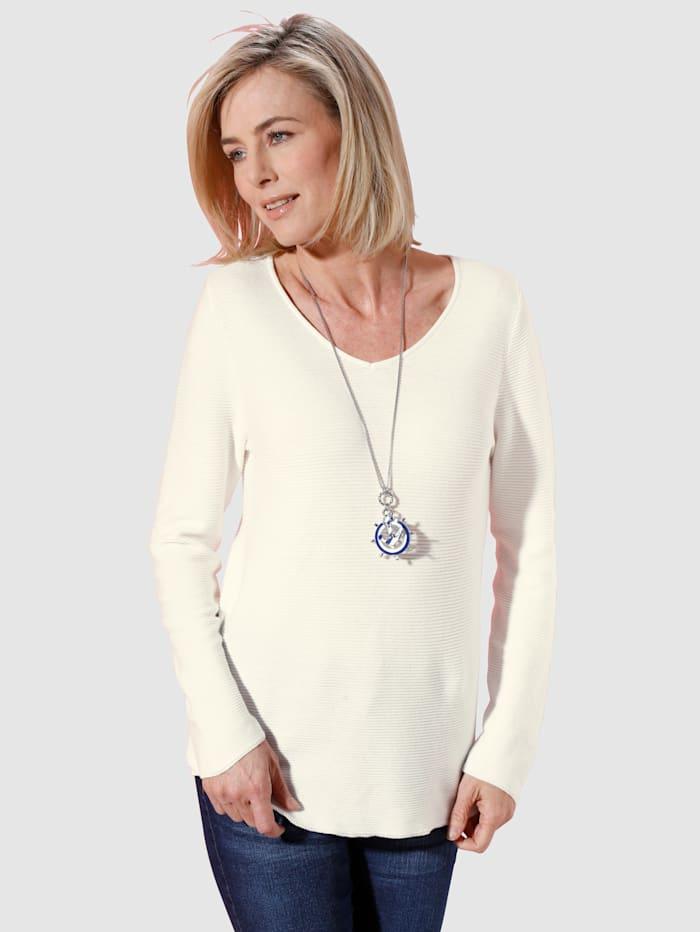 Dress In Pullover mit V-Ausschnitt, Ecru