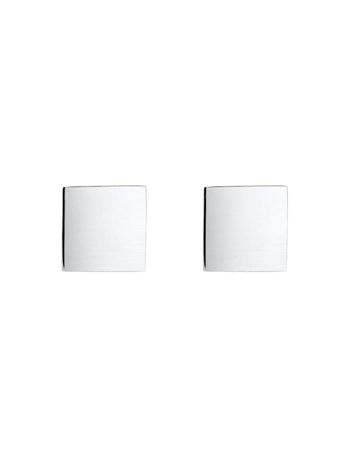 Ohrringe Viereck Geo Minimal Trend Matt 925 Silber Angolare