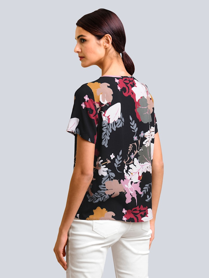 Bluse im floralem Dessin
