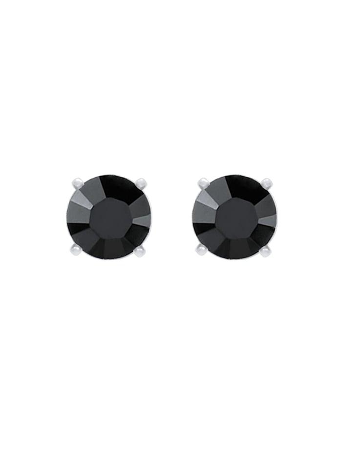 Ohrringe Basic Stecker Geo Kristalle 925 Silber