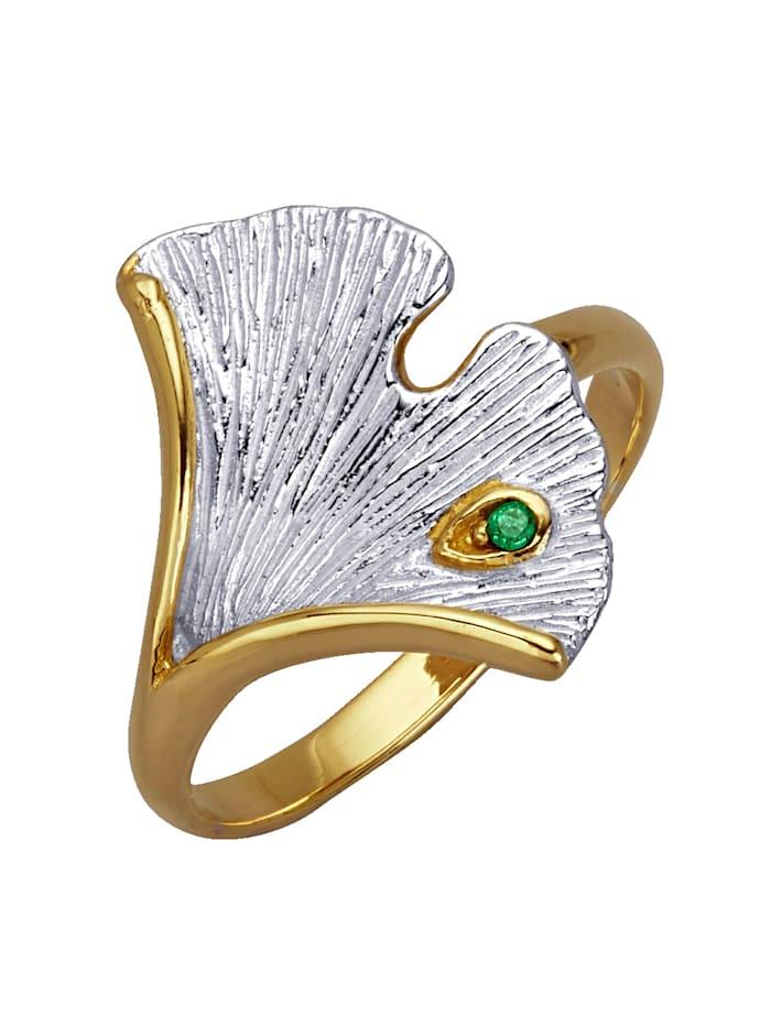 Diemer Atelier Ginkgo-Ring, Grün