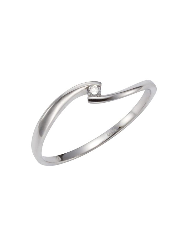 Orolino Ring 585/- Gold Brillant weiß Brillant Glänzend 0,04ct. 585/- Gold, weiß