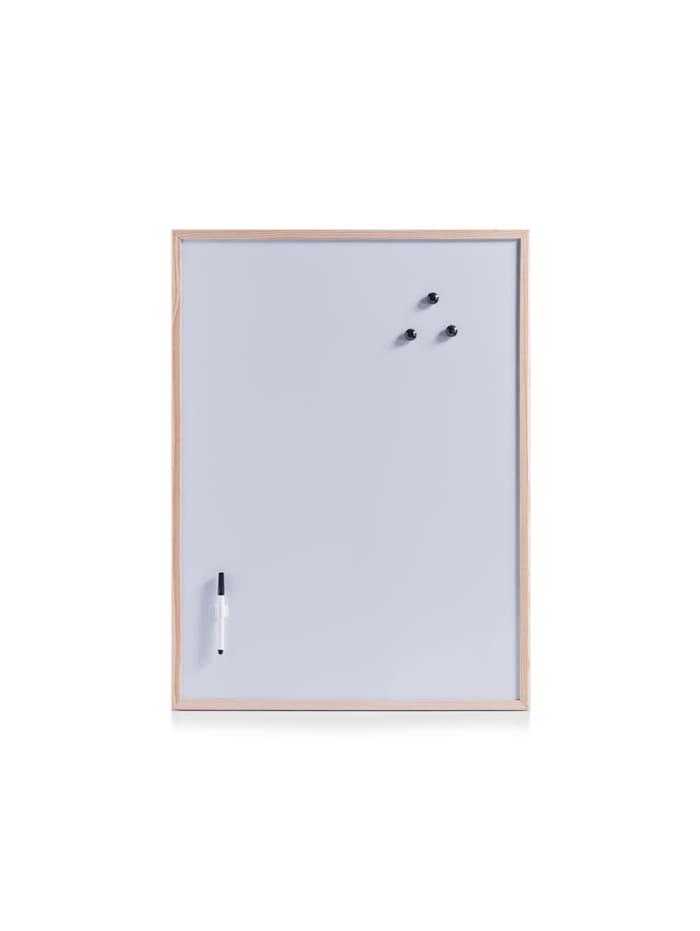HTI-Living Magnettafel-Set aus Kiefernholz, Weiß