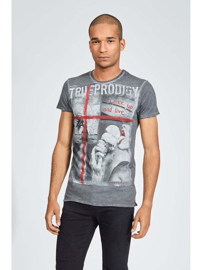 trueprodigy T-Shirt Melting ice mit coolem Grafik-Print, 0403-Anthracite