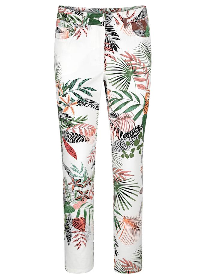 Nohavice s kvetinovým dizajnom