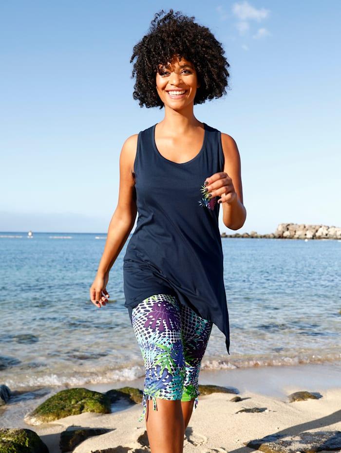 Maritim Strandshirt im angesagten Zipfel-Look, Marineblau