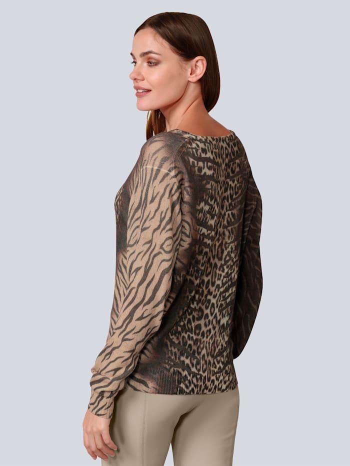 Pullover im farbenfrohen Leoprint