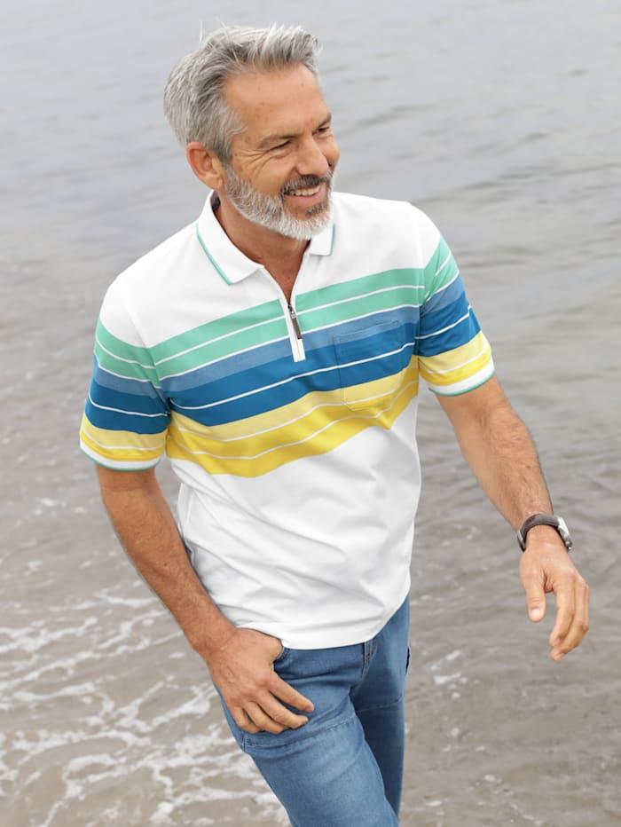 BABISTA Poloshirt aus feiner Piqué-Qualität, Weiß/Gelb/Grün/Blau