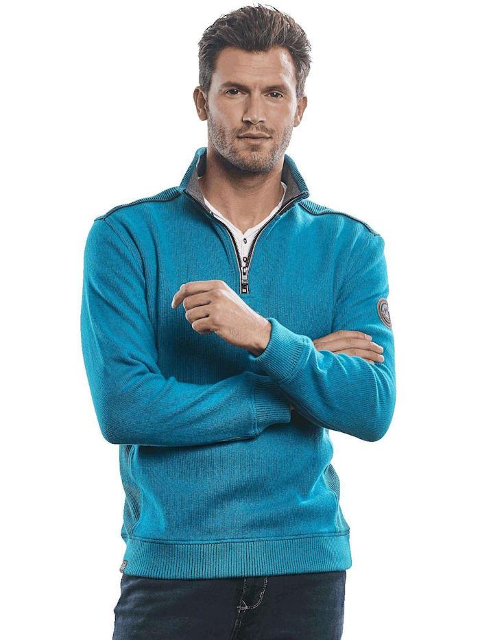 Engbers Softes Mouline Sweatshirt, Cyanblau