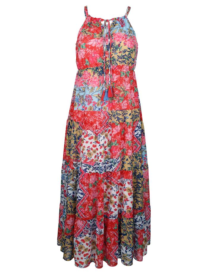 Alba Moda Strandkleid mit Patchworkdruck, Rot
