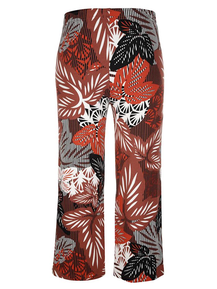 Kukkakuosiset culottes-housut