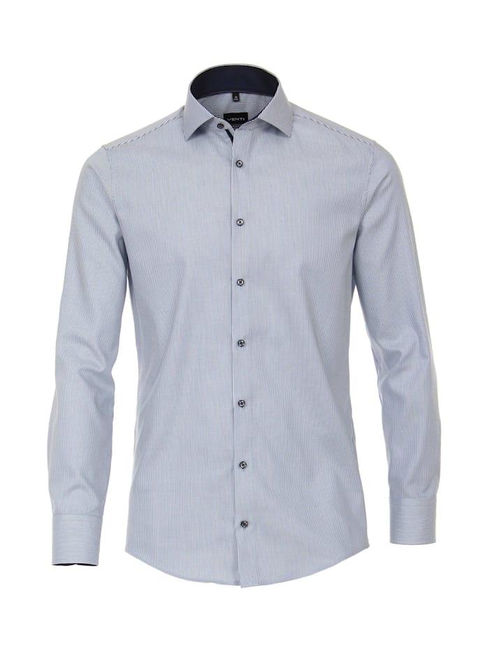 Venti Hemd gestreift Modern Fit, Hellblau