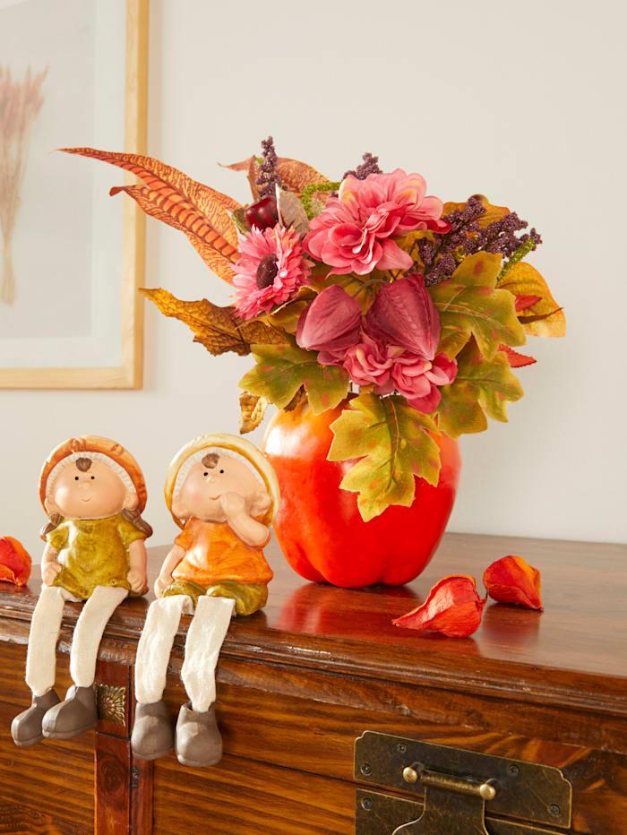 Blumengesteck Dahlie, mehrfarbig