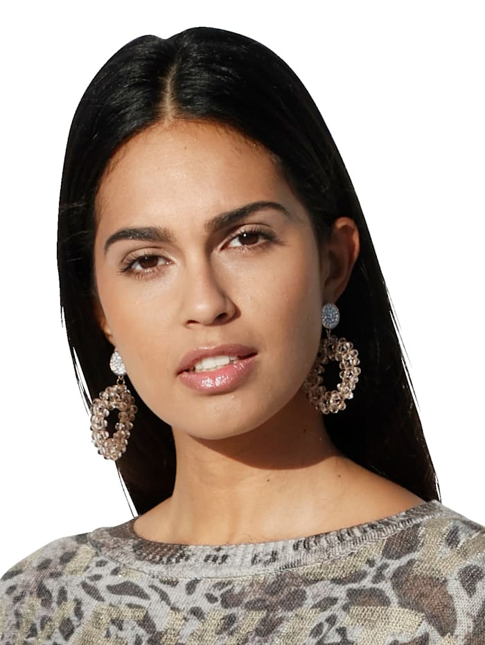 Boucles d'oreilles avec pierre en verre