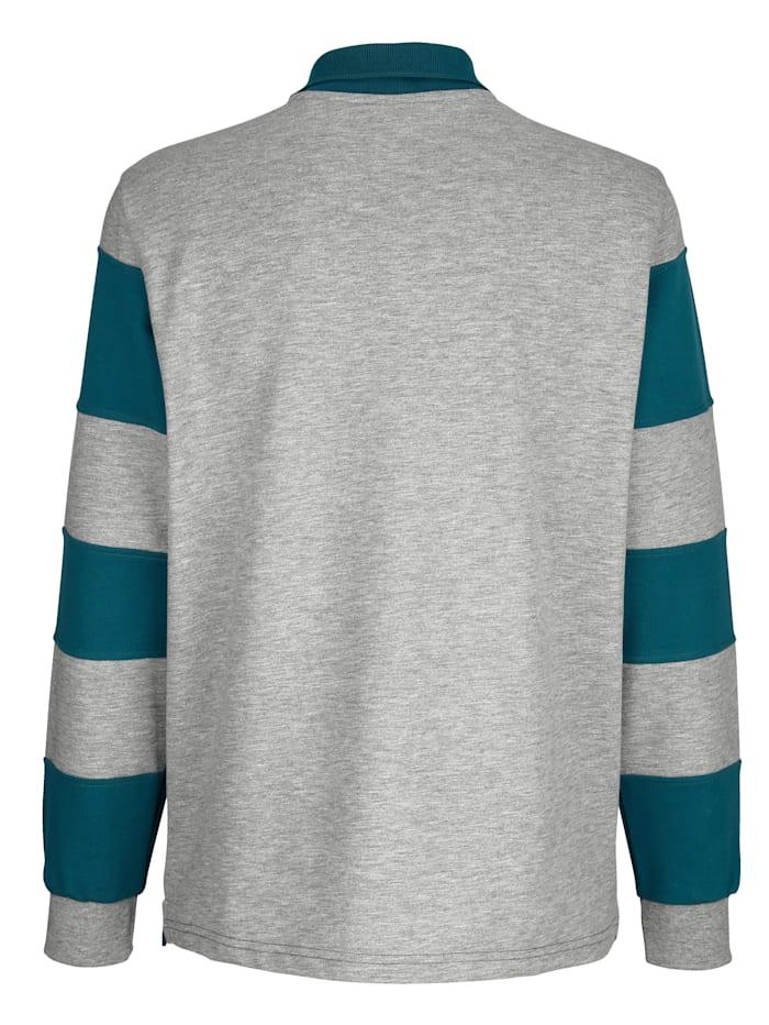 Sweatshirt met ingezette strepen
