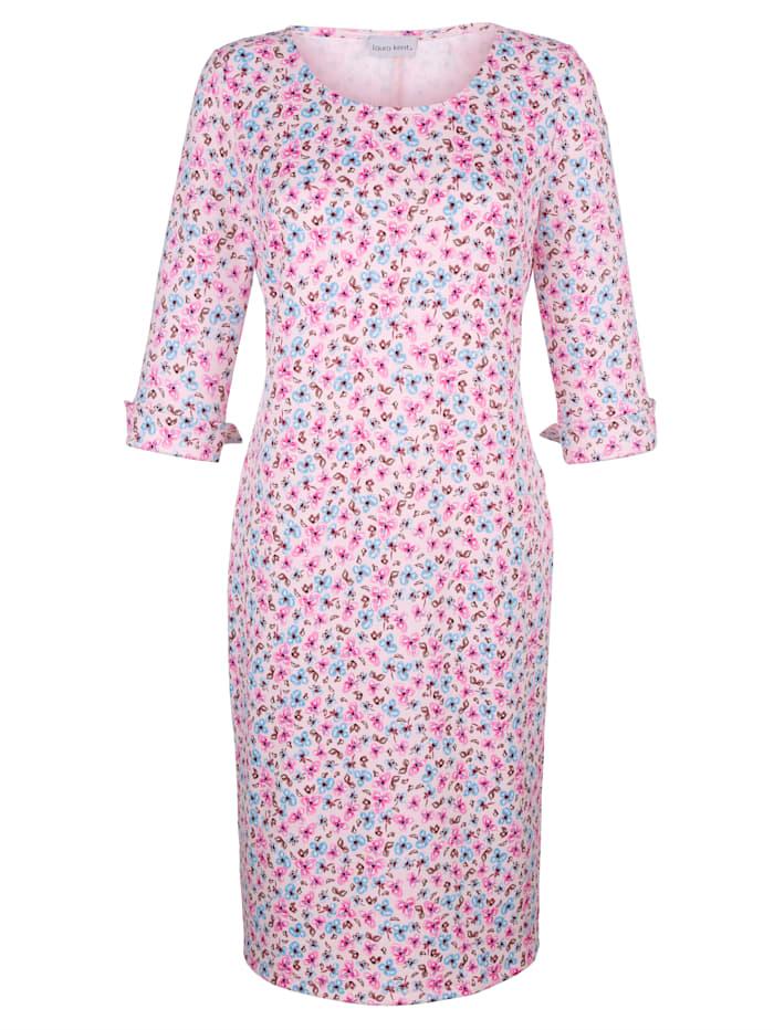 Laura Kent Kleid mit Blumendruck, Rosé