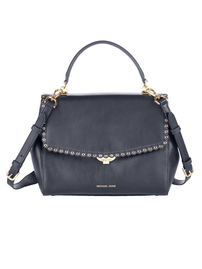 MICHAEL KORS Handtasche mit gewelltem Rand, schwarz