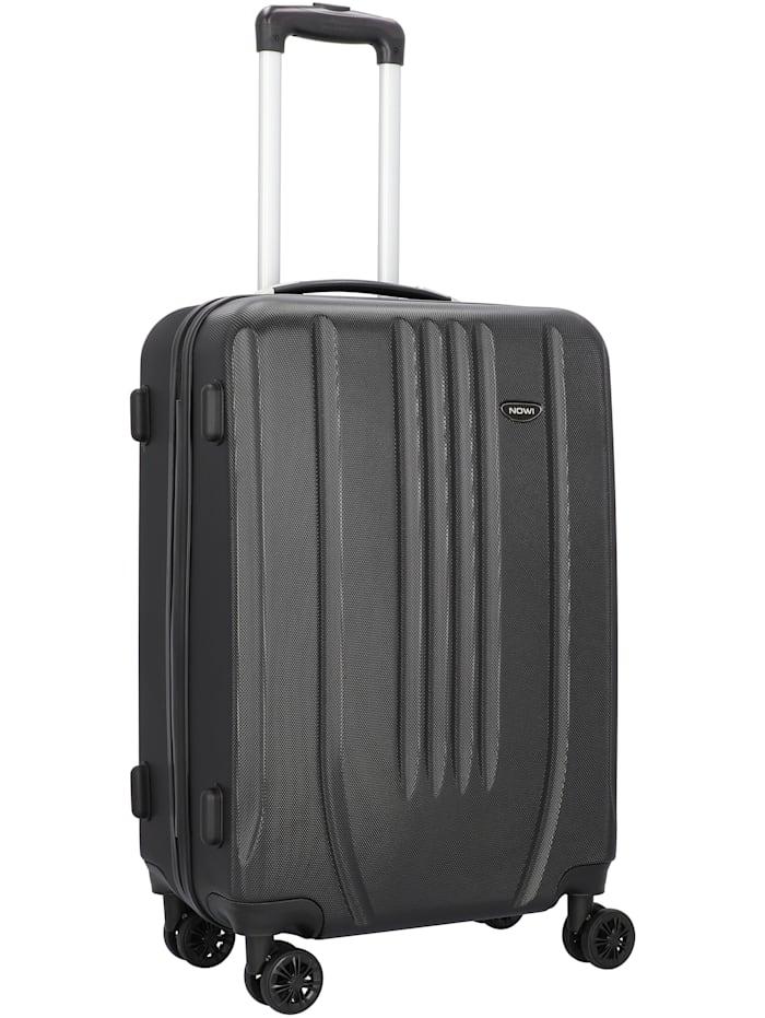 NOWI Hardshelled 3.0 4-Rollen Kofferset 3tlg. mit Doppelrollen 3-teilig, schwarz