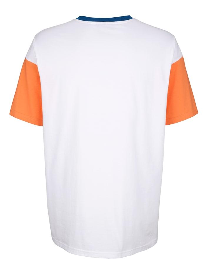 T-shirt col rond avec empiècements contrastants