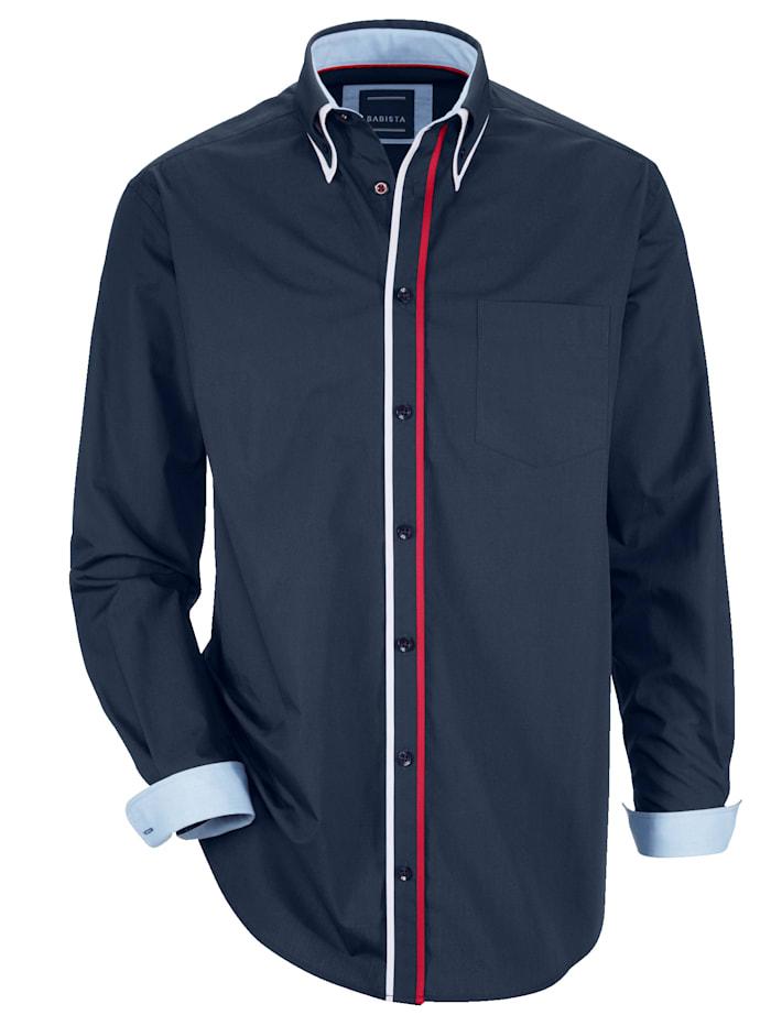 BABISTA Overhemd met dubbele kraagin button-downstijl, Marine