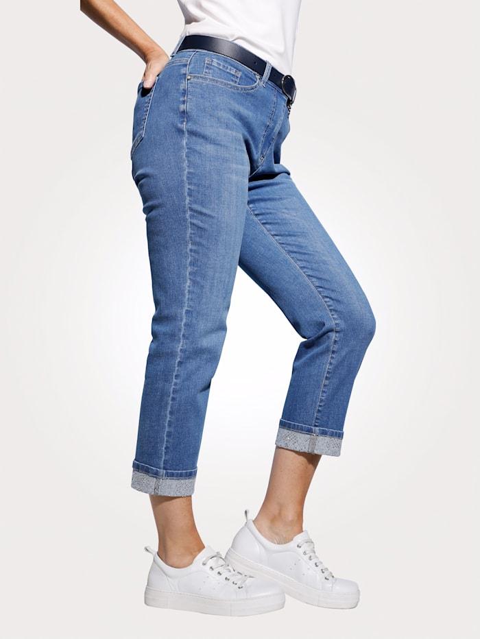 7/8 Jeans mit fixiertem Umschlag