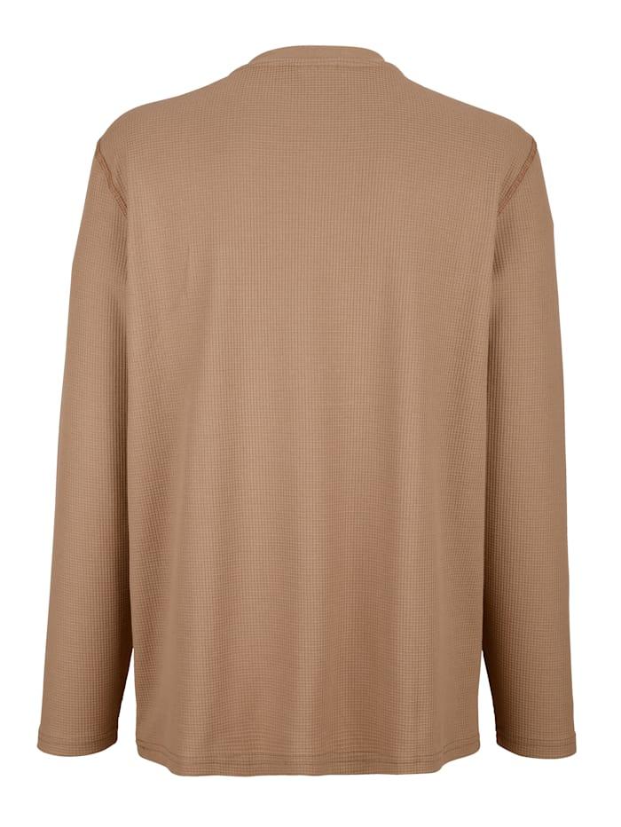 Sweatshirt mit Waffelstruktur