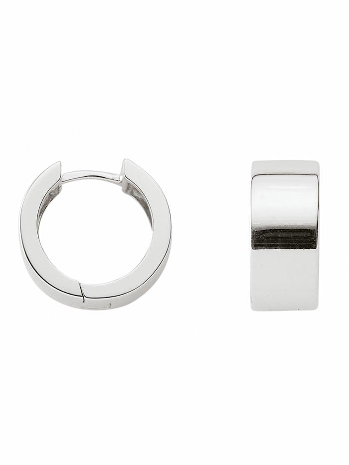 1001 Diamonds 1001 Diamonds Damen Silberschmuck 925 Silber Ohrringe / Creolen Ø 15,2 mm, silber