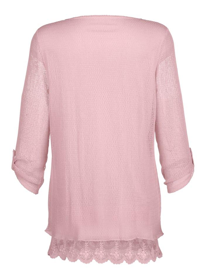 Tričková tunika, s pěknou krajkou na zakončení
