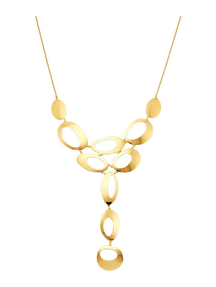AMY VERMONT Y-vormig collier van verguld zilver, Geelgoudkleur