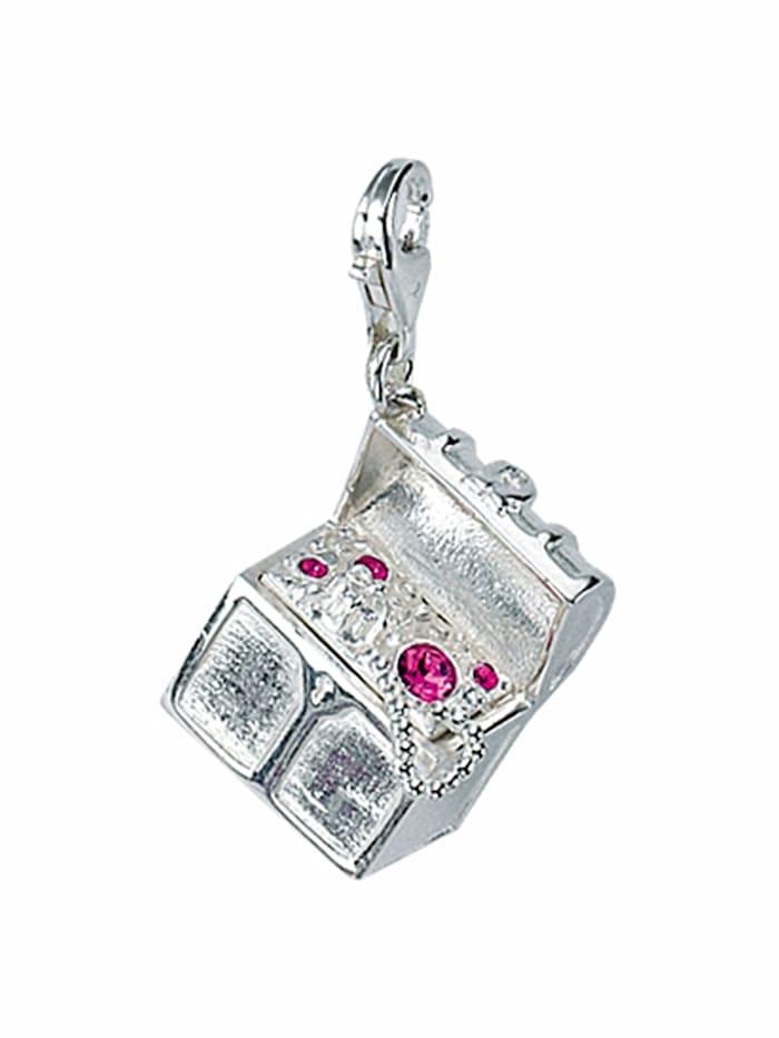 1001 Diamonds 1001 Diamonds Damen Silberschmuck 925 Silber Charms Anhänger mit Glasstein, bunt/multi