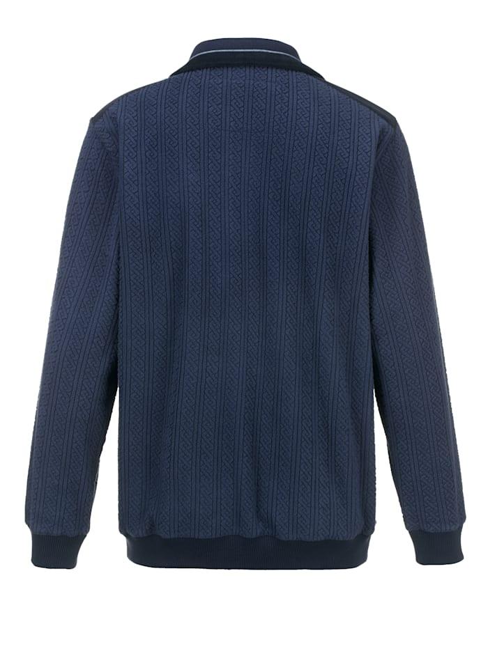 Fleece trui met zeer zachte structuur