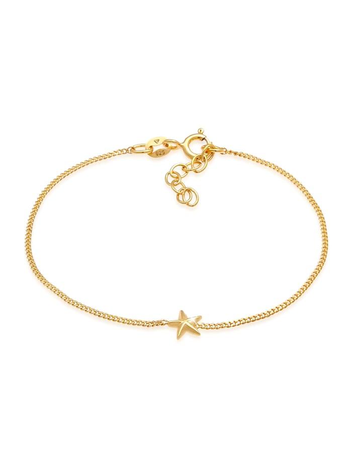 Elli Armband Kinder Stern Star Zart Strahlen 925 Silber, Gold